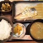 目利きの銀次 - さば味噌煮定食 700円(税込)(2018年11月2日撮影)