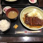 みそかつ・矢場とん ジャズドリーム長島店 - 味噌ロースカツ定食
