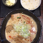 麺や 蒼 - 料理写真:「ラーメン(大盛無料)」800円+「リゾットセット」170円