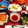 大阪竹葉亭 - 料理写真:[笹 ] うな丼、天ぷら、お造りや、デザートもついたセット