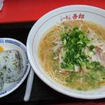 らーめん吾郎 - 料理写真:中華そば ¥550+おむすび(一皿二個) ¥200