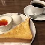 喫茶リッチ - ブレンドコーヒー450円とモーニング