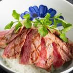 ●但馬牛ステーキ丼セット(ディナーメニュー)