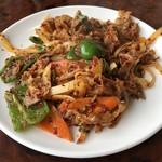 馬記 蒙古肉餅 - 羊肉クミン炒め