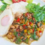 Asian Food Fuuten - 自家製ガパオの摘みたてガパオライス