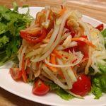 Asian Food Fuuten - 青パパイヤのスパイシーなサラダ「ソムタム」