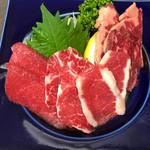 日本酒&馬肉ゆう馬 - 5種盛りハーフ