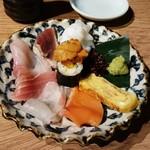 ヒノマル食堂 - 刺身盛り合わせ  580円