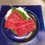 日本酒&馬肉ゆう馬 - 赤身刺し