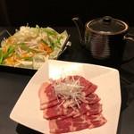 日本酒&馬肉ゆう馬 - チリトリ鍋(2人前)