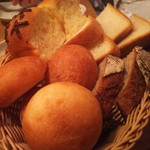 Megurofuratto - お通し代わりの大量のパン