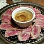 95893934 - 和牛もも肉の瞬間燻製。