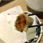 天ぷら Dining ITOI - 明太子と大葉の天ぷら
