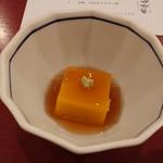 旬味美酒 松江駅前四季庵 - カボチャ豆腐のべっこうあんかけ