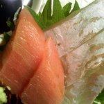 藤九寿司 - お昼の定食お造りアップ