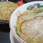 大阪拉麺食堂 大将 - 大将ぼんじりラーメン+大将チャーハン(セット価格770円)