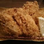 とんかつ みそ家 - 相方が食べた牡蠣フライ