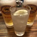京極スタンド - 私のレモンチューハイと生ビール