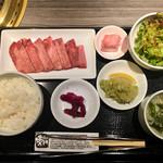 焼肉 秀門 - 上タン定食