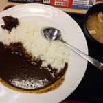 松屋 - クーポンでオリジナルカレー並通常380円が330円は味噌汁付き
