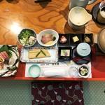 屋形船 あみ達 - 180807【貸切】VIPコース16200円前菜と刺身、穴子の煮付け