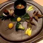 95912061 - さざえのうま煮&松葉串刺し&蛸と烏賊の沖漬け