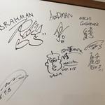 中華そば 四つ葉 - 有名人のサイン