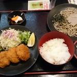 食事処 あづま - 料理写真:そば・ひれかつセット