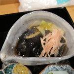 9592072 - 茄子の揚げ浸しと秋刀魚