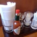 かりん亭 - 卓上の調味料等