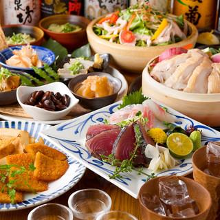 名物藁焼き!宴会や各種PARTYに最適♪四国の海&山の幸を!