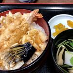 うなぎ・日本料理 ゑびす家 - 天丼@1200円   フツーに美味しい♪