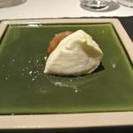 リストランテ カノフィーロ - 水牛のモッツアレラと洋梨、紅茶
