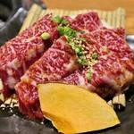 炭火焼肉 まるじゅう - 幻の黒ハラミ1,500円〇