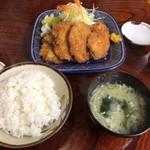 食事処里味 - 若鶏かつ定食 ¥750