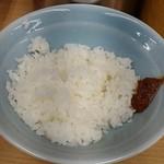 武蔵家 - ライスはおかわりも無料。