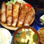 げんこつ亭 - ロースカツ定食