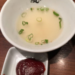 韓のおしり - スープ 文句レヴェルの量 苦笑