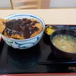 安積パーキングエリア(上り線)  スナックコーナー - 三元豚ソースカツ丼