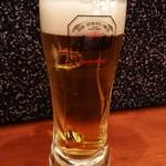 竃ダイニング たまのや - 生ビール。