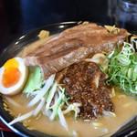 ハルピン 味噌らーめん 雷蔵 - 1本角煮タレ味噌ラーメン