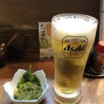 95957031 - 生ビールとお通し。