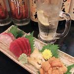 男鹿半島 - 料理写真:ウニも甘ーい!うまーーーい!!