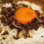 地鶏焼 もあい - ざるそばセット(卵かけご飯)