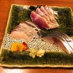 あさだ - 刺身盛り合わせ(小) 1,600円 かつお・さわら・〆鯖