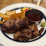肉が旨いカフェ NICK STOCK - 塾生牛ハンバーグ&ステーキランチ