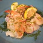 北欧キャンプ料理 CAMPFIRE - 本日の鮮魚のカルパッチョ