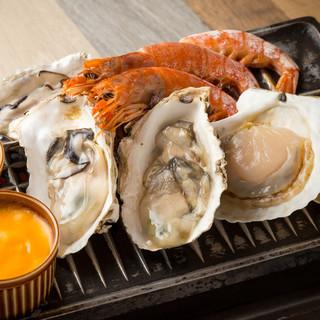 新鮮生牡蠣&海鮮BBQが食べ放題♪