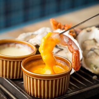浜焼き食べ放題×チーズフォンデュ