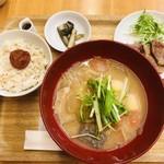 美噌元 - 炙り豚付きセット